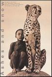 Child with Cheetah, Mexico Druck aufgezogen auf Holzplatte von Gregory Colbert