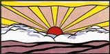 Zonsopgang, ca. 1965 Schilderijen van Roy Lichtenstein