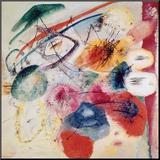 Black Lines, 1913 Montert trykk av Wassily Kandinsky