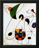 Cantante melancólico Láminas por Joan Miró