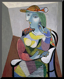 Portrait of Marie-Therese, 6th January 1937 Druck aufgezogen auf Holzplatte von Pablo Picasso