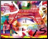 Paris s'eveille Kunst op hout van  Kaly