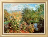 Coin de jardin à Montgeron Affiches par Claude Monet