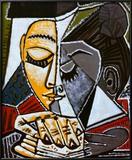 Hoofd van lezende vrouw Kunst van Pablo Picasso