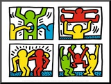 Pop Shop Quad I, c.1987 Mounted Print by Keith Haring