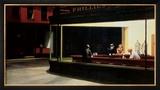 Yökyöpelit, n. 1942 Posters tekijänä Edward Hopper