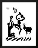 Der Flötenspieler Poster von Pablo Picasso