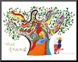 Long Live Love Mounted Print by Niki De Saint Phalle
