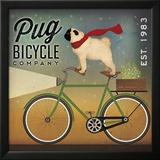 Pug on a Bike Prints by Ryan Fowler
