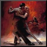 Argentinsk tango II Montert trykk av Willem Haenraets
