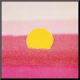 Sunset, c.1972 40/40 (pink) Druck aufgezogen auf Holzplatte von Andy Warhol