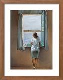 Junges Mädchen, am Fenster stehend Kunstdruck von Salvador Dalí