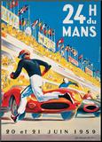 Le Mans 20 et 21 Juin 1959 Kunst op hout van  Beligond