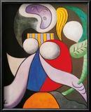 Frau mit Blumen, 1932 Kunstdrucke von Pablo Picasso