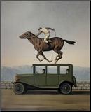 La Colere des Dieux Kunst op hout van Rene Magritte