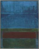 Blu, verde e marrone Poster di Mark Rothko