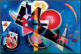 Blue Mounted Print by Wassily Kandinsky