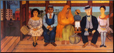 L'autobus Montert trykk av Frida Kahlo