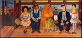 L'autobus Druck aufgezogen auf Holzplatte von Frida Kahlo
