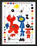 Personnage et Oiseaux Posters van Joan Miró