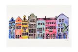 Rainbow, Rainbow Row Reproduction procédé giclée par Cat Coquillette