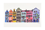 Rainbow, Rainbow Row Giclee Print by Cat Coquillette