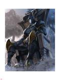 Black Panther 6 Variant Cover Art Plakater af Udon Studios