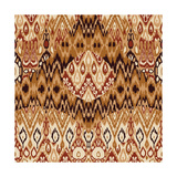 Patchwork Ethnic Bohemian Arabesque Pattern Print. Seamless Zigzag Geometric Ornament Abstract Back Posters tekijänä  Cosveta