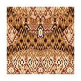 Patchwork Ethnic Bohemian Arabesque Pattern Print. Seamless Zigzag Geometric Ornament Abstract Back Juliste tekijänä  Cosveta