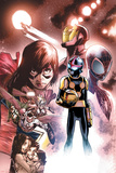 Nova 11 Panel Featuring Ms. Marvel, Iron Man, Nova, Ultimate Spider-Man Morales & More Plakater av Humberto Ramos