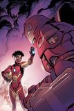 Invincible Iron Man 1 Variant Cover Art Featuring Ironheart, Riri Williams, Iron Man Bilder av Tom Raney