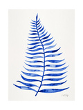 Navy Palm Leaf Giclee Print by Cat Coquillette