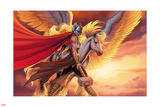 Mighty Thor 6 Civil War Variant Cover Art Featuring Thor (Female) Poster