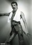 Queen- Freddie Mercury Live On Stage Affiche