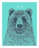 I Like You Bear Stampe di Rachel Caldwell