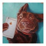 Dog Selfie Posters af Lucia Heffernan