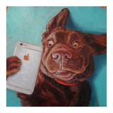 Dog Selfie Prints by Lucia Heffernan