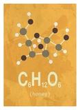 Molecule Honey Kunstdrucke von  TypeLike