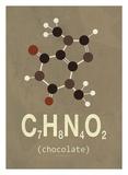 Molecule Chocolate Affiches par  TypeLike