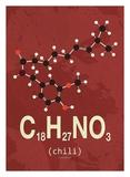 Molecule Chili Poster av  TypeLike