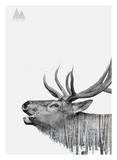 Hirsche & Elche Poster von  Clean Nature