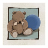 Teddy Bear and Ball Print by  GraphINC