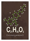 Molecule THC Posters af  TypeLike