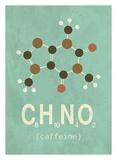 Molecule Caffeine Pôsters por  TypeLike