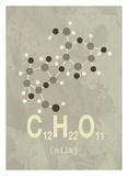 Molecule Milk Poster af  TypeLike