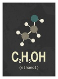 Molecule Ethanol Poster tekijänä  TypeLike
