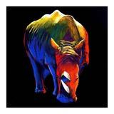The Rhino Plakat af Clara Summer