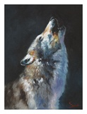 Wolf Howling Affiches par Eric Sweet