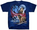 American Wolf Moon T-shirts