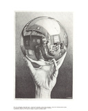 Hand with Sphere Samlarprint av M.C. Escher